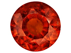 Garnet Hessonite 12mm Round Mixed Step Cut 6.75ct