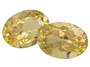 Heliodor 7x5mm Oval Matched Pair 1.50ctw