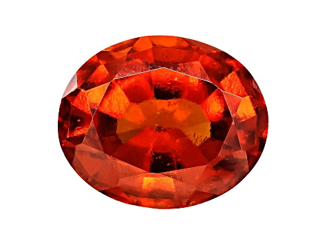 Garnet Hessonite 11x9mm Oval Mixed Step Cut 4.00ct