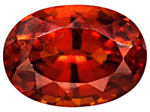 Garnet Hessonite 14x10mm Oval Mixed Step Cut 6.00ct