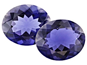 Iolite 12x10mm Oval Matched Pair 7.15ctw