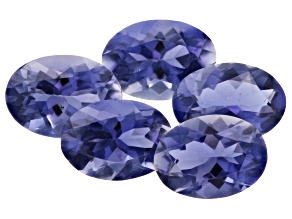Iolite 7x5mm Oval Set of 5 3.25ctw