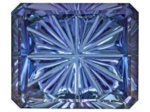 Tanzanite 8.08ct 11.83x9.86mm Rectangular Octagonal John Dyer Starbrite Cut