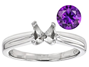 Amethyst 7mm Round with Sterling Silver Solitaire Ring Casting Kit 1.00ct