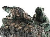 Emerald Frog Carving