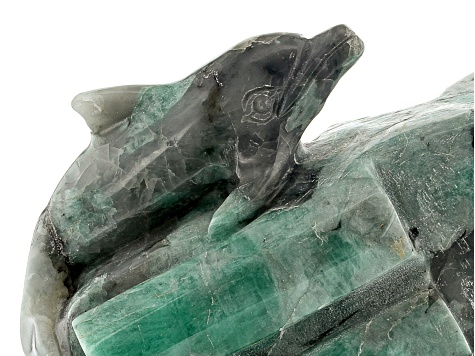Emerald Dolphin Carving