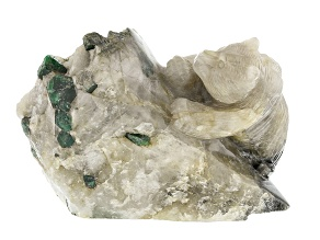 Emerald In White Host Rock Bear Carving