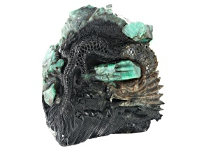 Emerald Dragon Carving