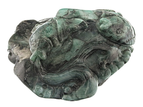 Emerald Fish Carving