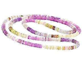 Multi-color Sapphire 4-5mm Thin Rondelle Endless Strand Necklace Approx 24 Inches