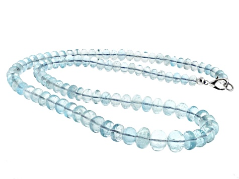 Madagascan aquamarine 6.3-10.8mm rondelle Bead Strand Approx 21 inches