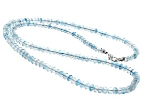 Aquamarine 3.7-5.3mm rondelle Bead Strand Approx 21 inches
