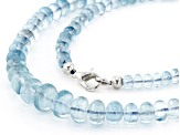 Aquamarine 5.5-11.5mm Rondelle Bead Strand Approx 21 inches
