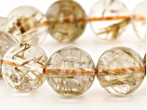 Rutilated Quartz 16mm Round Bead Stretch Bracelet