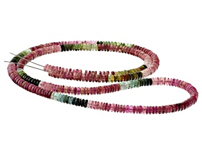 Multi-Color Tourmaline 4.5mm Thin Rondelle Bead Strand