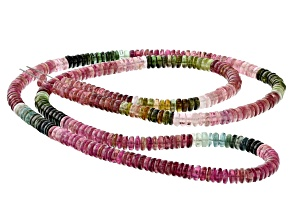 Multi-Color Tourmaline 4.6-4.9mm Thin Rondelle Bead Strand