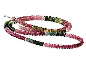 Multi-Color Tourmaline 5mm Thin Rondelle Bead Strand