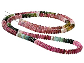 Multi-Color Tourmaline 5.5mm Thin Rondelle Bead Strand