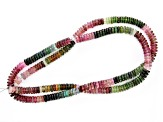 Multi-Color Tourmaline 6.8-7.2mm Thin Rondelle Bead Strand