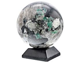 Emerald In Host Rock 12.5 Inch Polished Sphere