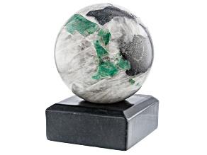 Emerald In Host Rock 11 Inch Polished Sphere