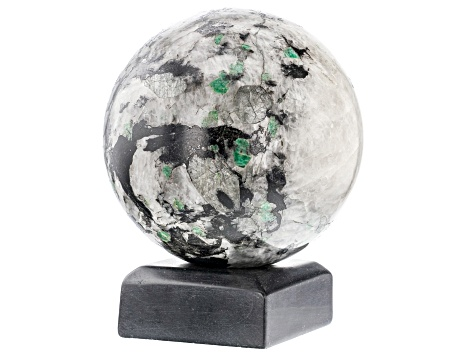 Emerald In Host Rock 14.3 Inch Polished Sphere