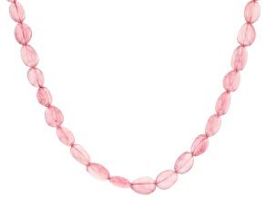 Rose Quartz Free Form Nugget Graduated Bead Necklace