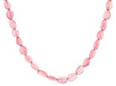 Rose Quartz Free Form Nugget Graduated Bead Necklace