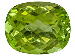 Peridot 11x9mm Rectangular Cushion Checkerboard Cut 4.25ct