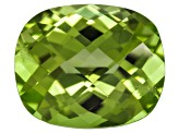 Peridot 11.5x9.5mm Rectangular Cushion Checkerboard Cut 4.90ct
