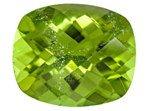 Peridot 12.5x10.5mm Rectangular Cushion Checkerboard Cut 6.02ct