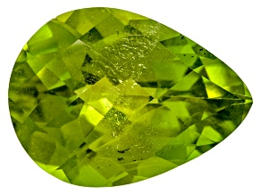 Peridot 14.86x11mm Pear Shape Checkerboard Cut 7.20ct