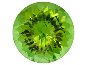 Peridot 10.5mm Round Checkerboard Cut 4.40ct