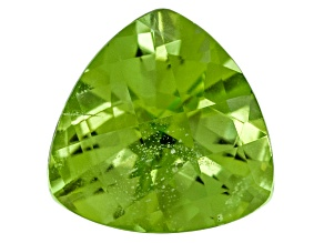 Peridot 10mm Trillion Checkerboard Cut 3.96ct