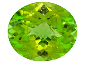 Peridot Oval Checkerboard Cut 3.55ct