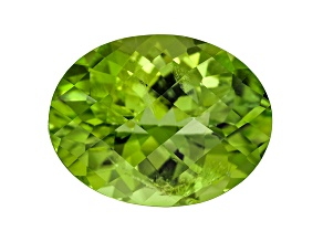 Peridot Oval Checkerboard Cut 5.60ct