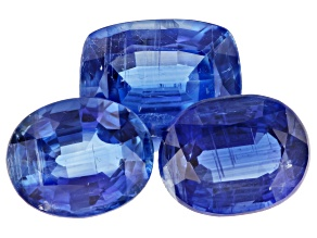 Kyanite Oval and Rectangular Cushion Set of 3 11.85ctw