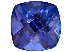 Tanzanite 7mm Square Cushion Checkerboard Cut 1.50ct