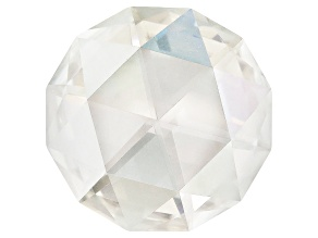 Moissanite Fire ™ 14mm Round Rosette Cut Apx 5.00ct Diamond Equivalent Weight