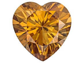 Moissanite Fire ™ Cognac 5mm Heart Shape Brilliant Cut Apx .50ct DEW