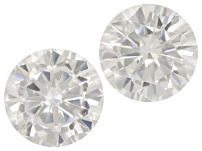 Moissanite Fire ™ 5mm Round Matched Pair Apx 1.00ctw Diamond Equivalent Weight