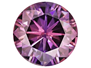 Moissanite Fire ™ Purple 7mm Round Brilliant Cut Apx 1.20ct Diamond Equivalent Weight
