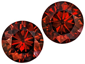 Moissanite Fire™ Red 5.5mm Round Brilliant Cut Matched Pair Apx 1.20ctw Diamond Equivalent Weight