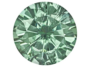 Moissanite Fire ™ Green 8.5mm Round Brilliant Cut Apx 2.20ct Diamond Equivalent Weight