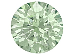 Moissanite Fire ™ Green 4mm Round Brilliant Cut Apx .20ct Diamond Equivalent Weight