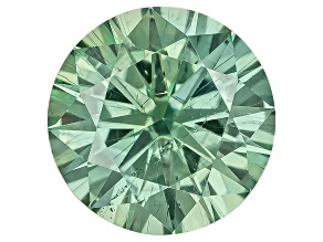 Moissanite Fire ™ Green 4.5mm Round Brilliant Cut Apx .30ct Diamond Equivalent Weight
