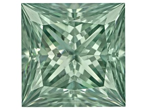 Moissanite Fire ™ Green 6mm Square Princess Cut Apx 1.20ct Diamond Equivalent Weight