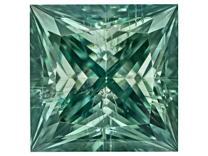 Moissanite Fire ™ Green 6.5mm Square Princess Cut Apx 1.50ct Diamond Equivalent Weight