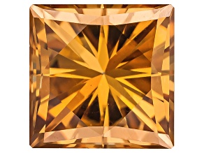 Moissanite Fire ™ Cognac 5mm Square Princess Cut Apx .70ctw DEW
