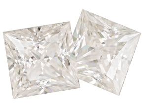 Moissanite Fire ™ 5.5mm Princess Cut Matched Pair Apx 1.80ctw Diamond Equivalent Weight